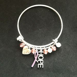 Breast cancer awareness bangle